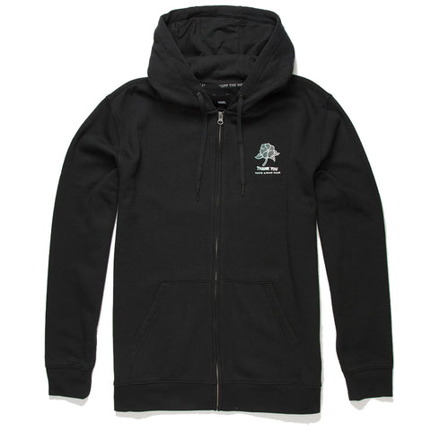 Vans Thank You Floral Zip Up Black - Hoodie