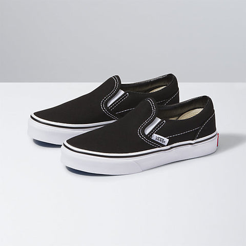 Vans Youth Slip-On Black/White - Shoes