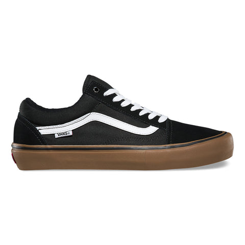 Vans Old Skool Pro Black/White/Gum - Shoes Outside View