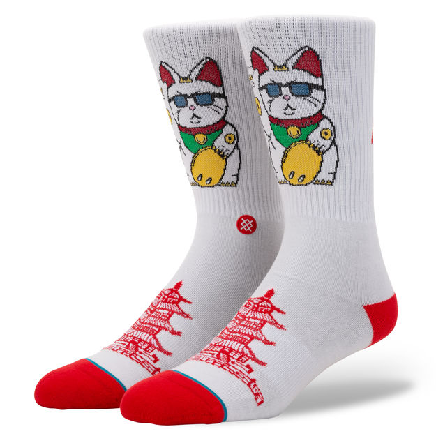 Stance Thank You Enjoy White - Socks - Versus Pro Shop - QC Scooters