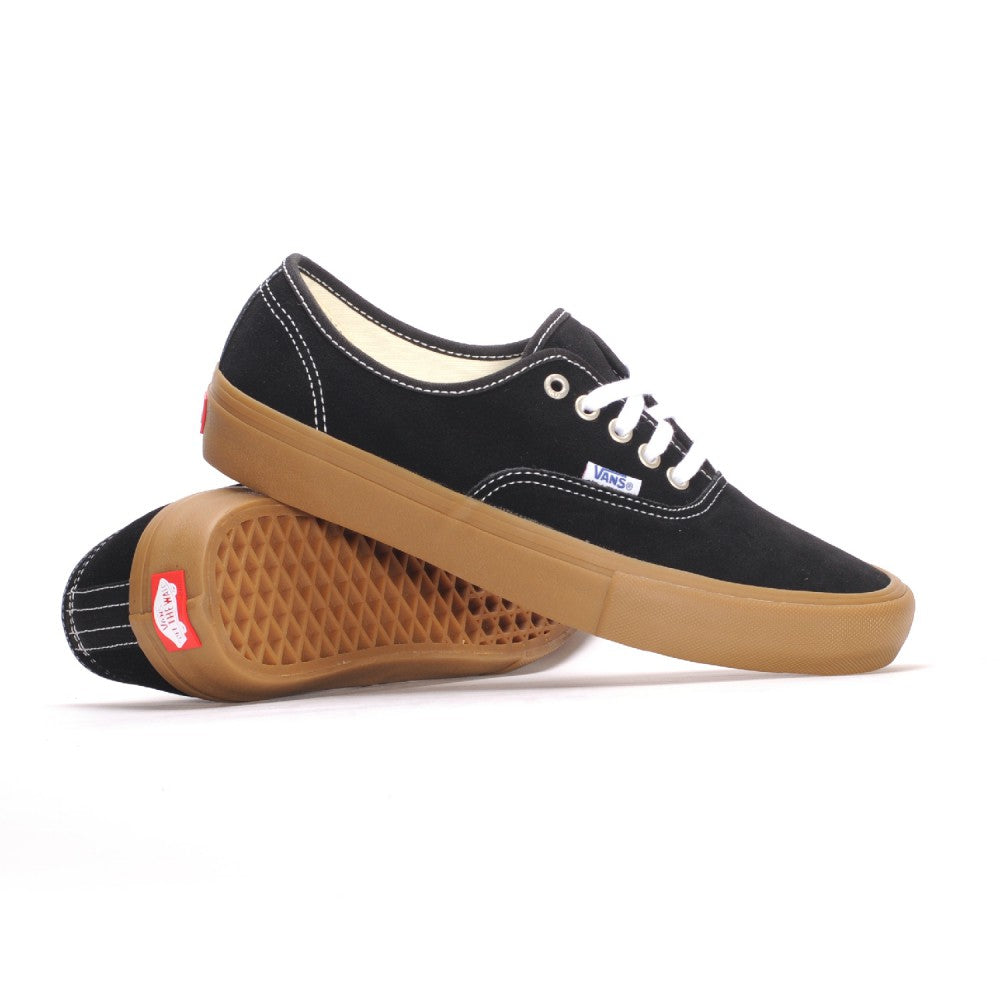 Vans Authentic Pro Black Classic Gum - Shoes - Versus Pro Shop - QC Scooters