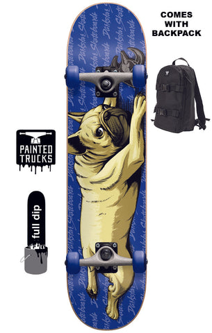 Darkstar Bulldog Youth With Backpack - Skateboard Complete