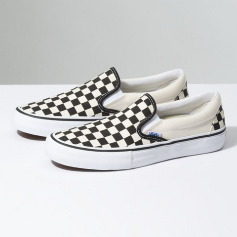 Vans Slip-On Pro Checkerboard (Black/White) - Shoes