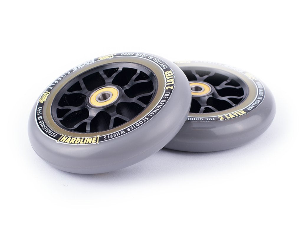 Eagle X6 Black Core 2 Layers Hardline Sewercaps (SINGLE) - Scooter Wheel