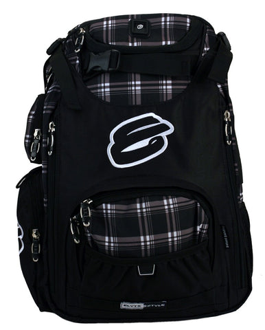 Elyts Scooter Backpack - Plaid with Grey