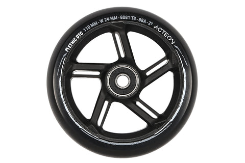 Ethic Acteon 110mm (PAIR) - Scooter Wheels Black