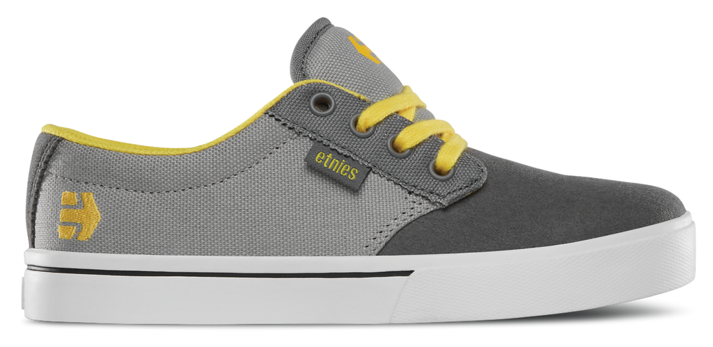 Etnies Jameson 2 Eco Kid, Grey / Yellow, Shoes
