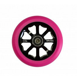 Havoc 110mm Spoked, Scooter Wheel, Pink on Black
