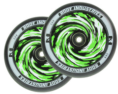 Root Industries AirWheels Design Core 120mm Black Urethane (PAIR) - Scooter Wheels