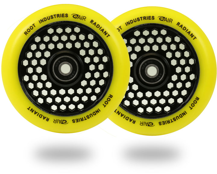 Root Industries Honeycore 110mm Radiant (PAIR) - Scooter Wheels Yellow
