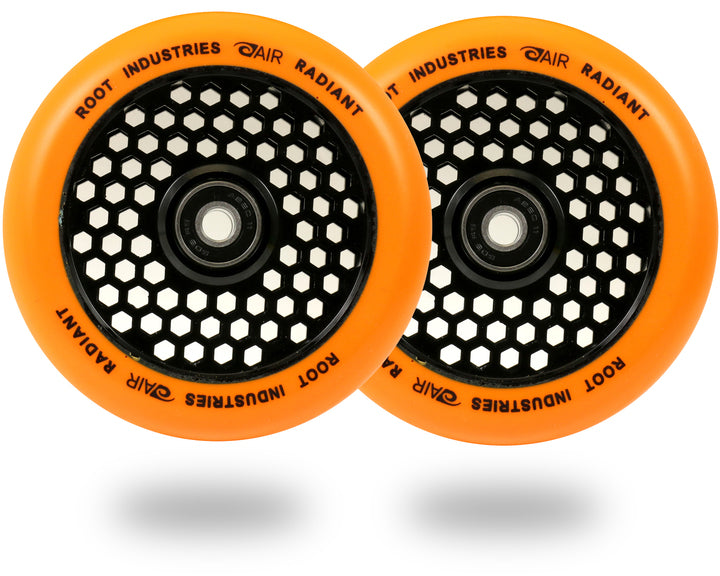 Root Industries Honeycore 110mm Radiant (PAIR) - Scooter Wheels Orange