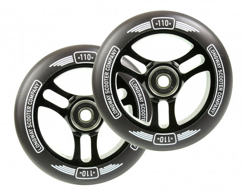 Longway Sector 110mm (PAIR) - Scooter Wheels Black