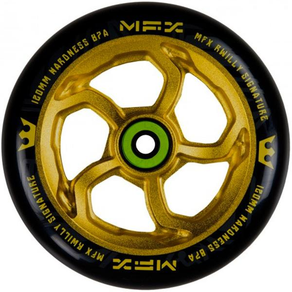 MGP MFX Hurricane RWilly 120mm (SINGLE) - Scooter Wheel Gold