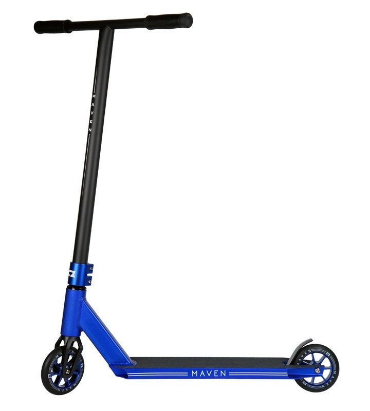 AO Scooters Maven 2018, Complete Scooter, Blue Side View