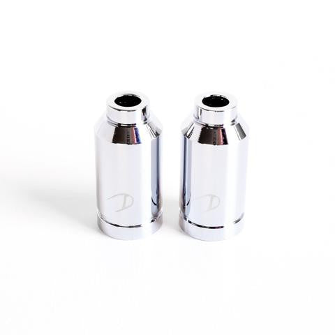 drone aluminum pegs, chrome, front and back