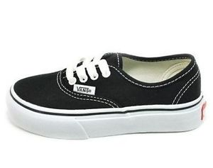 Vans Youth Authentic Black/True White - Shoes