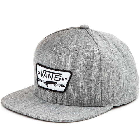 Vans Boys Full Patch Snapback - Hat Heather Grey