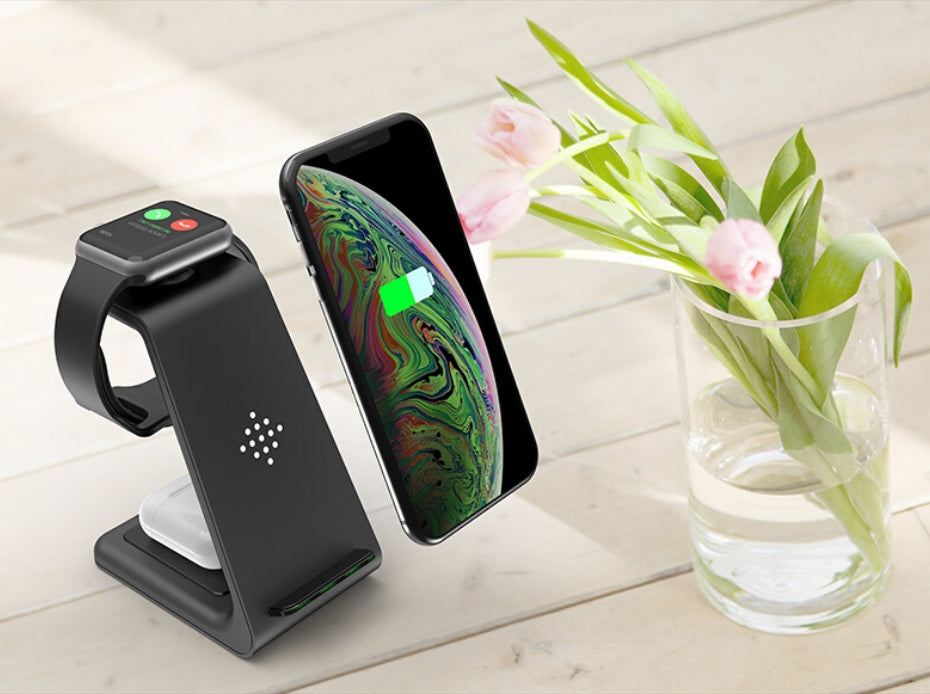 Try the NEW 3 In 1 Wireless Charging Stand