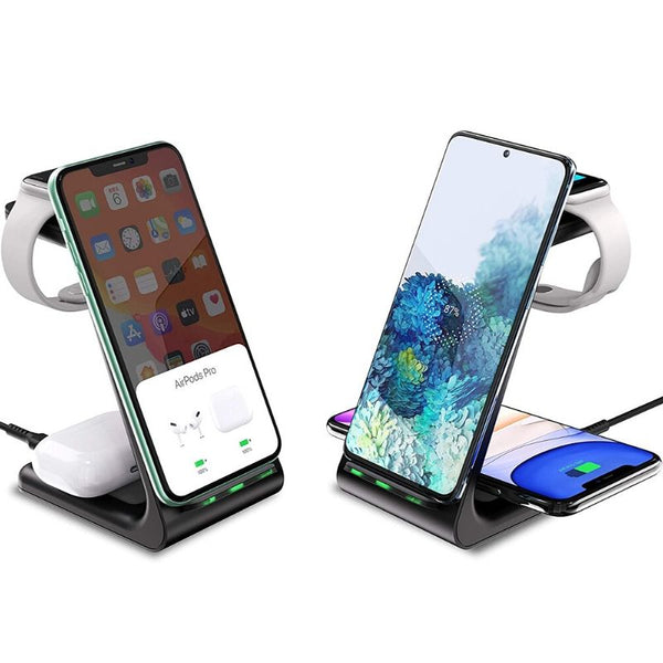 THE 3 IN 1 WIRELESS CHARGING STAND