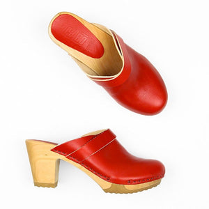 Bosabo Kety Mule Clog in Red