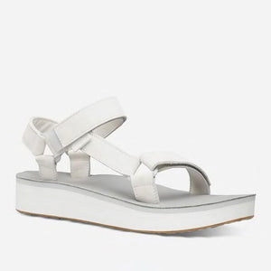 Teva Midform Leather Sandal in White for Women