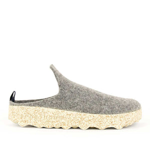 Asportuguesas women's grey wool Come slide.