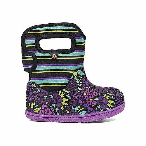 baby bogs purple floral neoprene rain boot