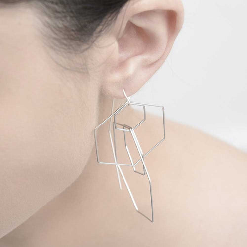 Pursuits Hexxx Earrings - Silver - Sole Food