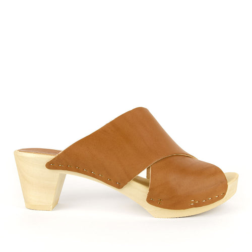 Bosabo Brown Criss Cross Slide Clog