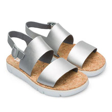 Load image into Gallery viewer, Camper Oruga Flat Sandal in Silver