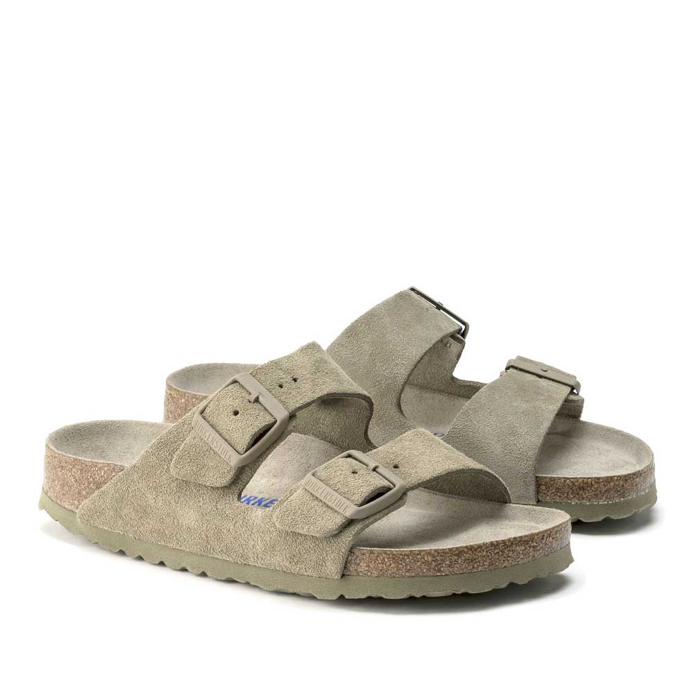 Birkenstock Arizona SFB Sage Suede Leather.