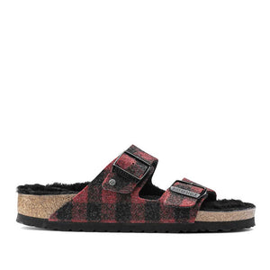 Birkenstock Arizona Red Wool plaid.