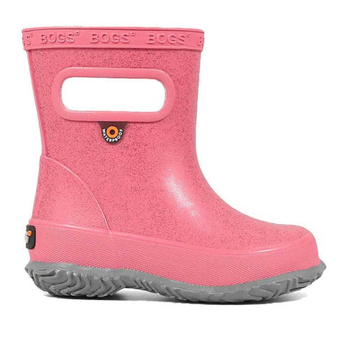 Kids Bogs skipper boot in glitter pink.