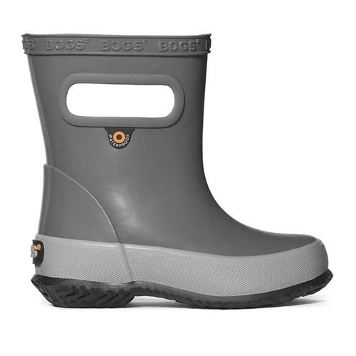 Bogs Skipper rainboot for kids in gray.