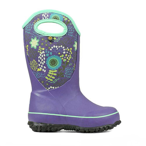 Bogs Slushie boot in Reef purple for kids.