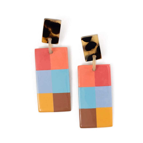 Sunshine Tienda Plaid Cabana Earrings - Sole Food