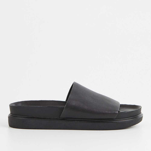Vagabond Erin Slide Sandal - Black - Sole Food
