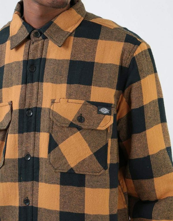 Dickies Lansdale Pine Brown Duck Shirt