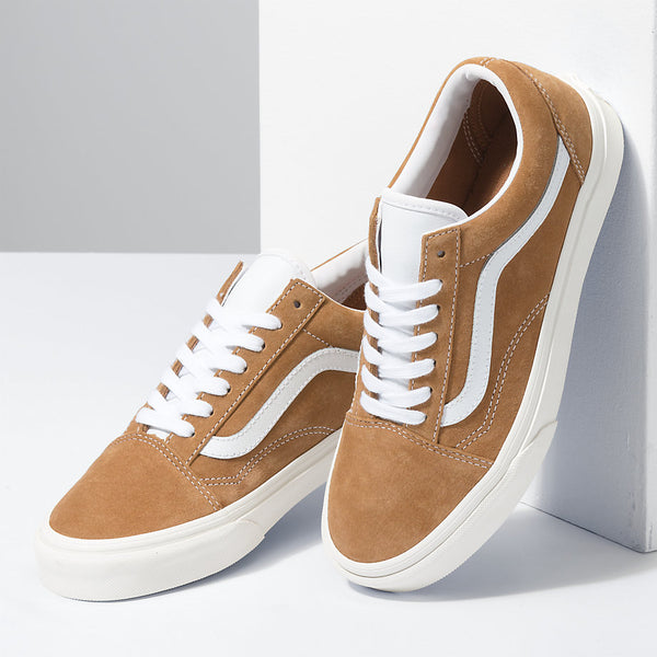 Vans Old Skool Pig Suede Brown Sugar/Snow White