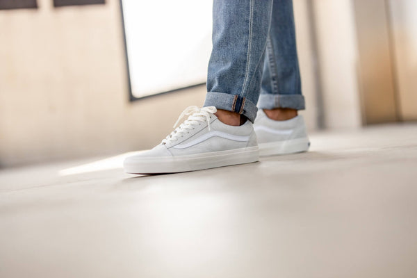 Vans Old Skool Pig Suede Marshmallow/True White