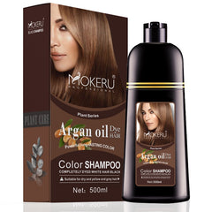 Natural Dye Argan Oil Essence Fast Hair Color Shampoo For Women