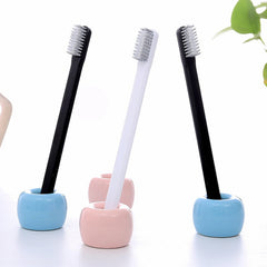 Adults Toothbrush Soft Slim Tip Toothbrush Charcoal Bristle For Kid Children ECO Friendly Bamboo Environmental Tooth Brush Black - vendilos