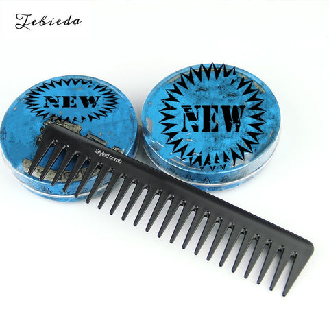 1Pcs Men's light wide tooth texture comb oil head back styling carbon fiber