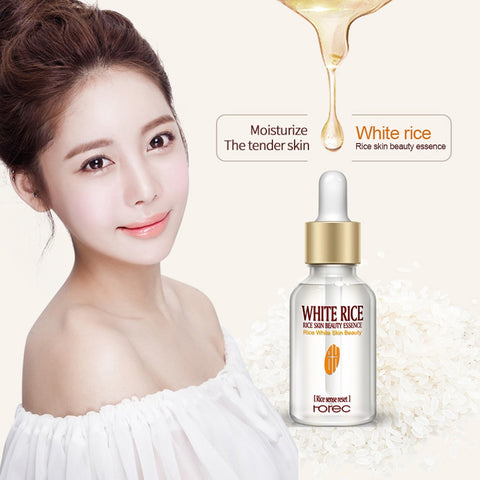 Pure White Rice Serum Essence Moisturizing Anti Wrinkle