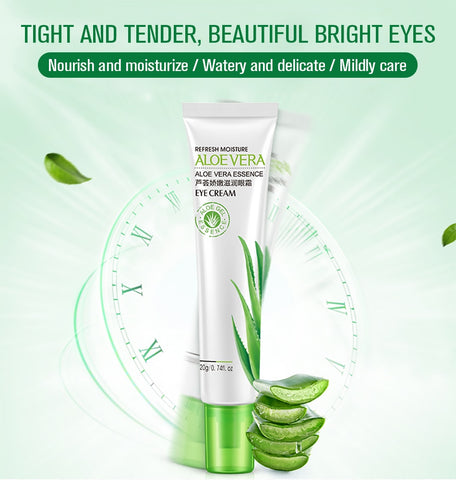 20ml Aloe Eye Cream Gel Remove Dark Circles Puffiness