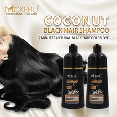 Natural No Harm to Skin Organic Coconut Hair Color Shampoo Permanent Hair Color