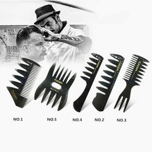 Men's Vintage Head Comb New Oil Head Shape Partner Comb Wide Tooth Fork styling tool