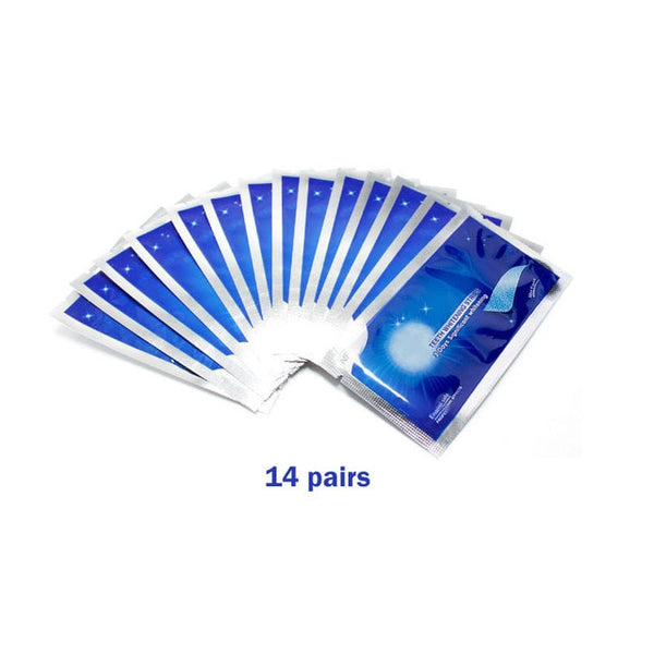 28Pcs/14Pairs Advanced Teeth Whitening Strips Stain Removal for Oral Hygiene Clean Double Elastic Dental Bleaching Strip - vendilos