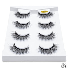 4/8 pairs 3D Natural False Eyelashes