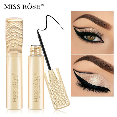 MISS ROSE Liquid Eyeliner Pencil Waterproof Fast Dry Sweat Proof Long-lasting Eye Liner Cosmetic